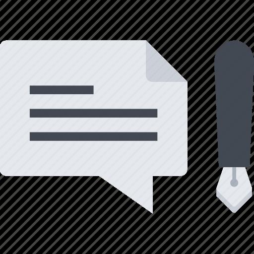 blogging, comment, comments, pen icon