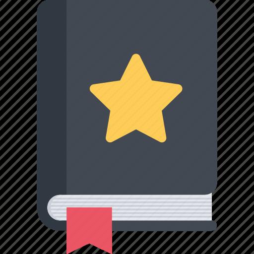 book, bookmarking, favorites, star icon