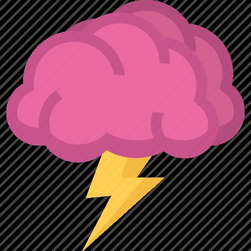 brain, brainstorm, idea, storm icon