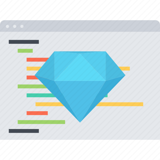 clean code, code, diamond, seo, site icon