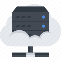 cloud, cloud server, files, server icon