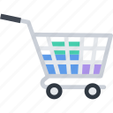 basket, cart, commerce, goods, purchases