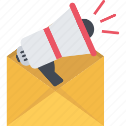email, email marketing, mail, marketing, megaphone, message icon