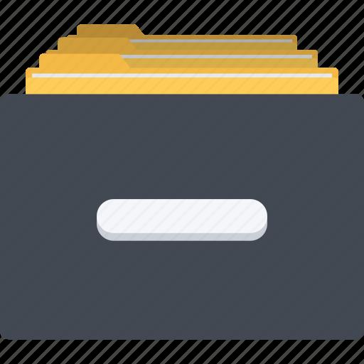 cabinet, database, file storage, files, folder, information icon
