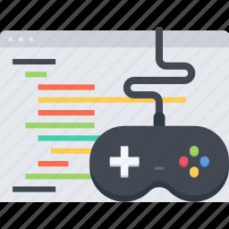 code, development, game, game development, gamepad icon