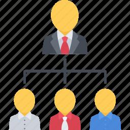 chief, company, hierarchy, leader, structure icon