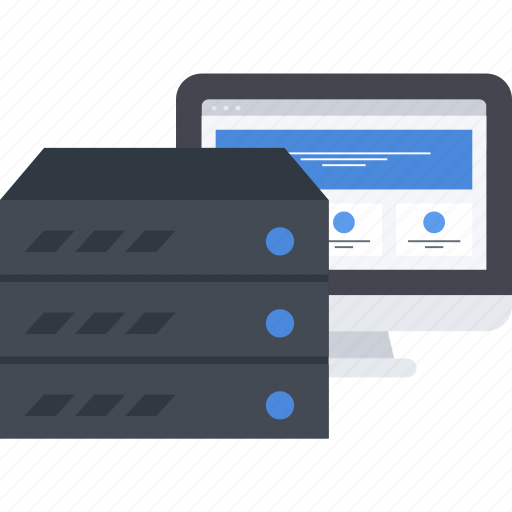 database, hosting, server, site icon