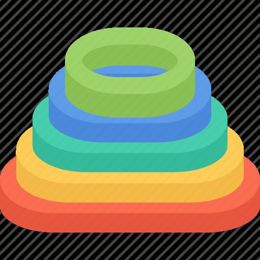 link, link pyramid, optimization, pyramid, seo icon