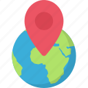 local, network, planet, search icon