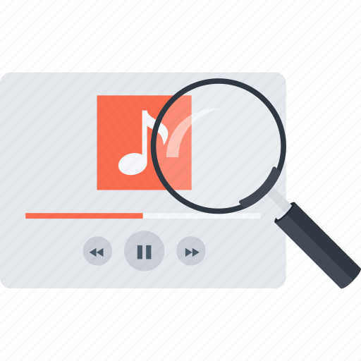 loupe, music, music search, search icon