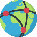 earth, network, planet, seo icon