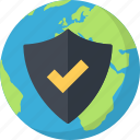 earth, network, planet, protection icon
