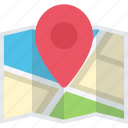 location, map, optimization, pin icon