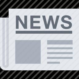 news, newspaper, press, press release icon