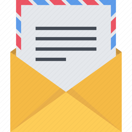 email, mail, paper, sending icon