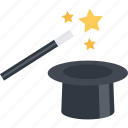 magic, magic wand, trick, wand icon