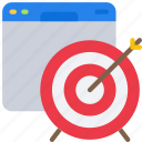 browser, seo, target, targets, website, window icon