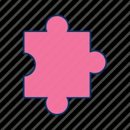 concept, jigsaw, puzzle, puzzle piece icon