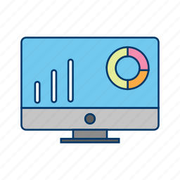 chart, graph, lcd, monitor, progress icon