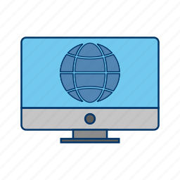 browser, lcd, monitor, site, web, webpage icon