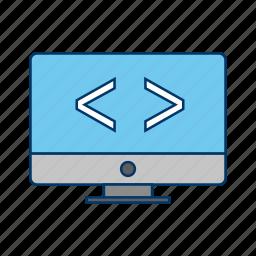 code optimization, coding, programming icon