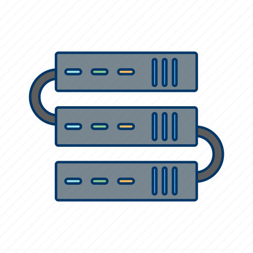 connection, network, server, servers icon