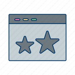 browser, favourite, starred, web icon