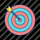 dart, market, success, target icon