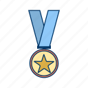 award, gold medal, medal, star medal icon
