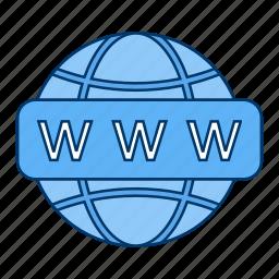 earth, globe, link, search, url, web, website icon