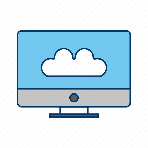 cloud, connected to cloud, network icon