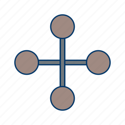 building, business, connection, link, network icon