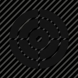 aim, focus, goal, target icon