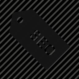 label, seo, tag icon