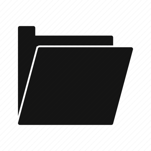 document, file, folder, open folder icon