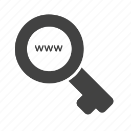 filter, internet, key, magnifier, optimization, search, web optimization icon