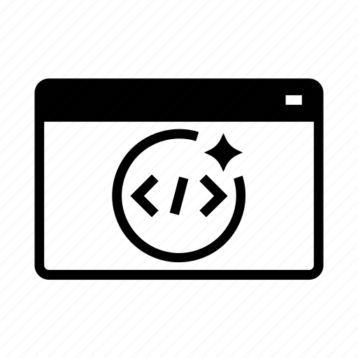 clean, code, coding, development, seo, website icon