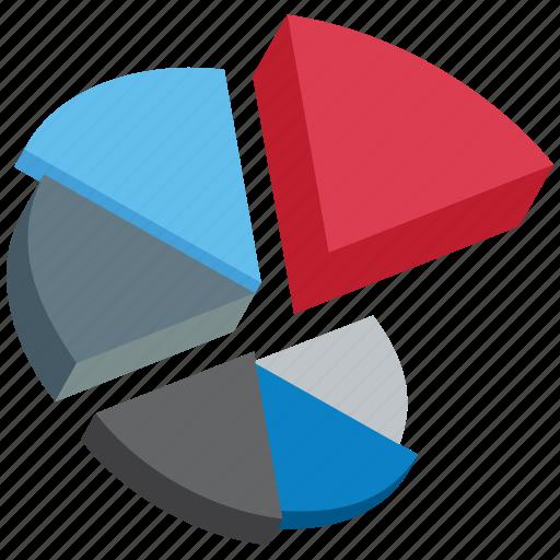 analytics, business strategy, pie3d, responsive design, seo tools icon