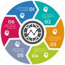 circle, infographic, seo icons, seo pack, seo services icon