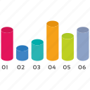 cylinder, infographic, seo, seo pack, seo services icon