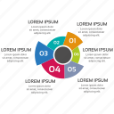 infographic, pie, seo icons, seo pack, seo services icon