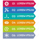 infographic, seo icons, seo pack, seo services, steps icon