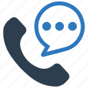 call center, communication, help, message bubble, phone, support, talk icon
