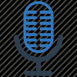 mike, recorder, sound, voice icon