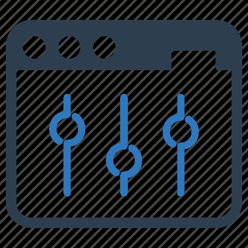 application, configuration, page optimization, site, tweaks, web, window icon