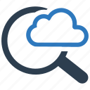 cloud, find, internet search, search icon
