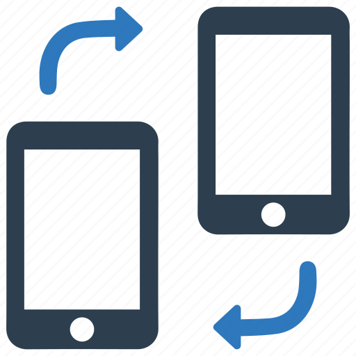 mobile, mobile sync, phone, share, sharing, syncronization, update icon