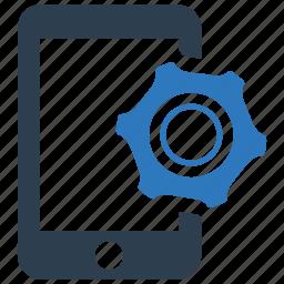 configuration, gear, mobile, mobile marketing, option, phone, settings icon