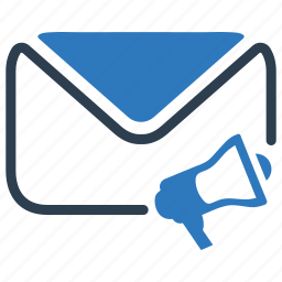 email, marketing, megaphone, promotion, speaker icon