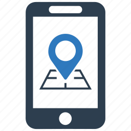 gps, location, marker, mobile, navigation, phone, pin icon